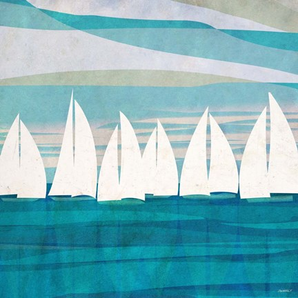 Framed Afternoon Regatta II Print