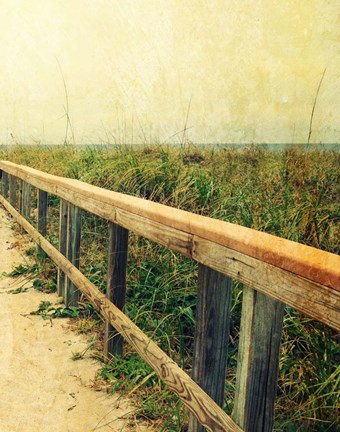 Framed Beach Rails II Print