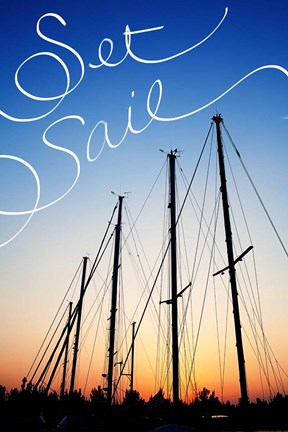 Framed Set Sail Print