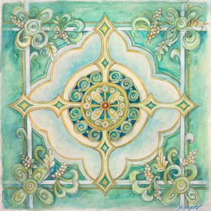 Framed French Medallion IV Print