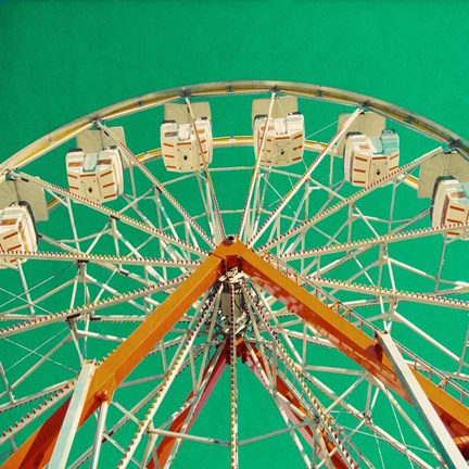 Framed Green Ferris Wheel Print
