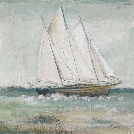 Framed Cape Cod Sailboat II Print