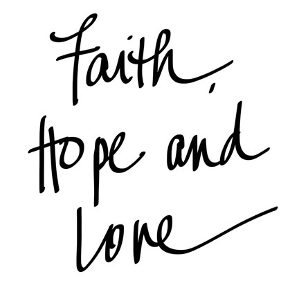 Framed Faith Hope Love Print