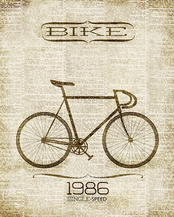 Framed Bike 1986 Print