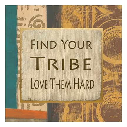 Framed Find Your Tribe Print