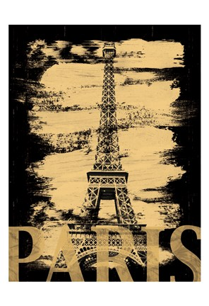 Framed Paris Paint Black Print