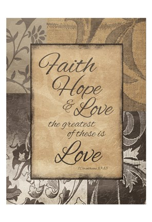 Framed Darker Faith Hope Love Print