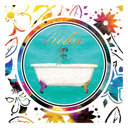 Framed Colorful Relaxation Print