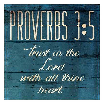 Framed Trust In The Lord Clean Print