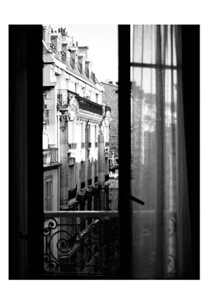 Framed Paris Hotel Window Print