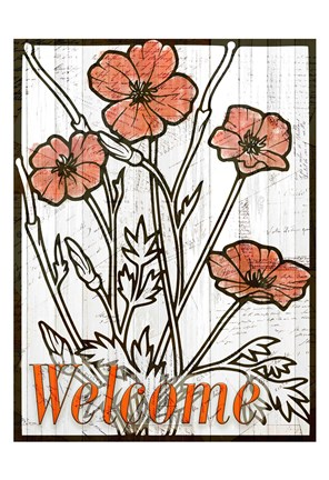 Framed Welcome Poppies Print