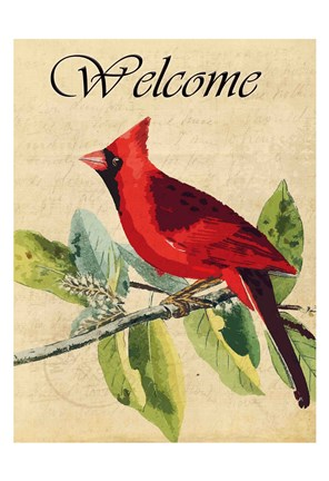 Framed Cardinal Welcome Print