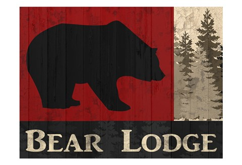 Framed Bear Lodge Print