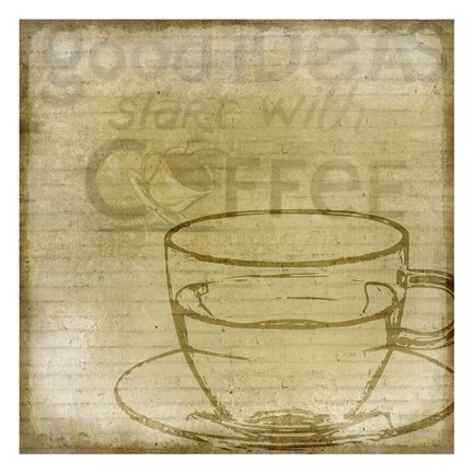Framed Coffee 1 Print
