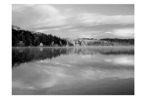 Framed Reflections of Summer BW 2B Print