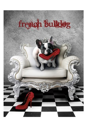 Framed French Princess Bulldog 82453 Print