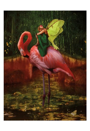 Framed Flamingo Fairy 82390 Print