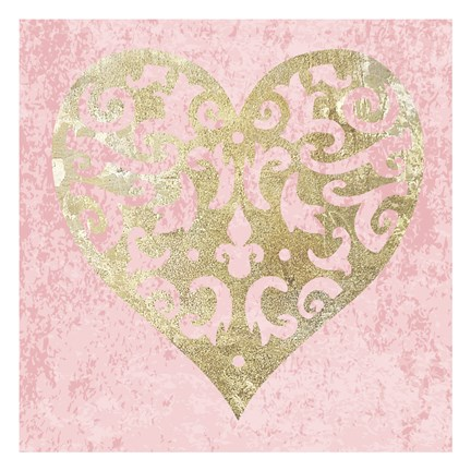 Framed Heart Glitz 3 Print