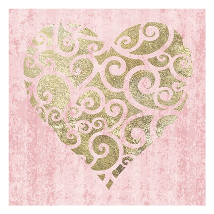 Framed Heart Glitz 4 Print