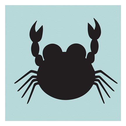 Framed Crab Cutout Print