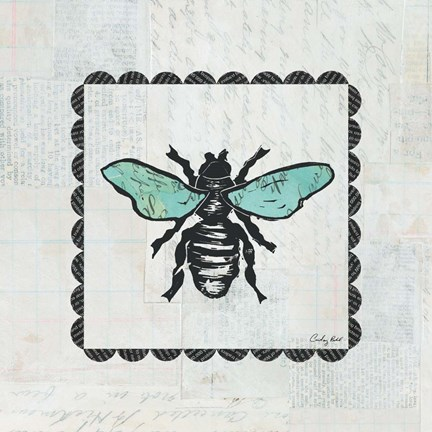 Framed Bee Stamp Print