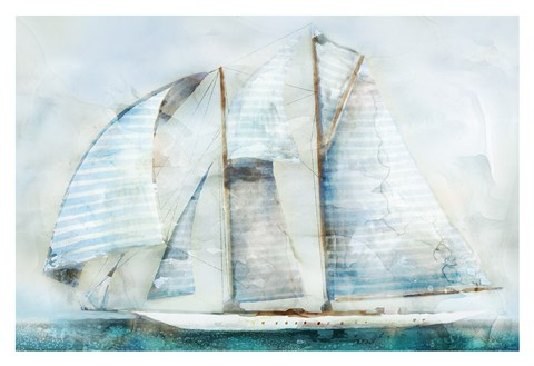 Framed Sailboat Blues Print