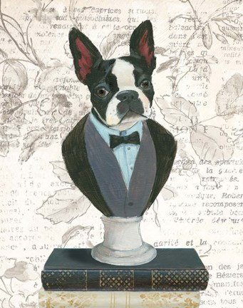 Framed Canine Couture Newsprint I Print