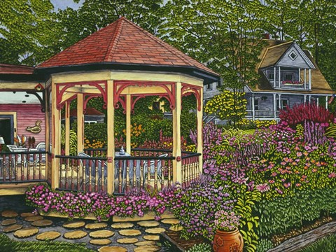 Framed Gazebo At Chautauqua Print