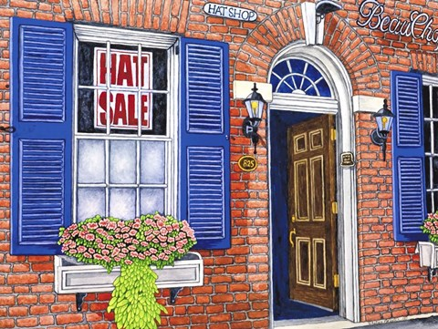 Framed Hat Shop - Notl Print