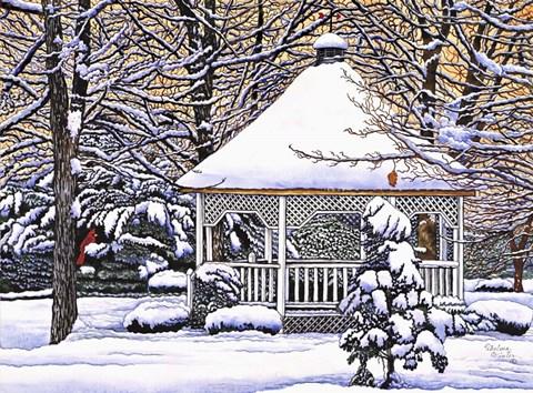 Gazebo Fine Art Print By Thelma Winter At Fulcrumgallery Com
