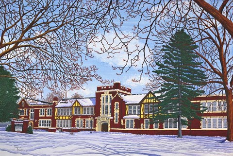 Eden Central School Eden Ny Fine Art Print By Thelma