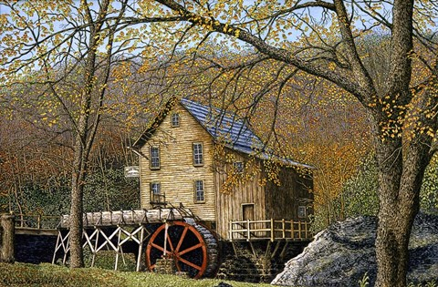 Framed Glade Creek Grist Mill I Beckley, Wv Print