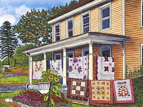 Framed Quilts Not By Bread Alone, Lancaster Pa Print