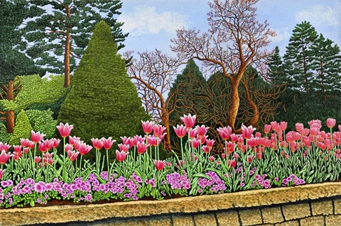 Framed Tulips At Longwood Gardens III, Kennett Square Pa Print