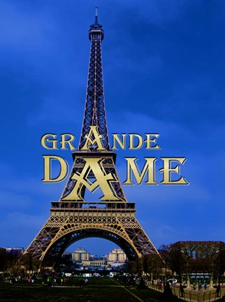 Framed Eiffel Tower - Grande Dame Print