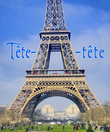 Framed Tete-a-tete in Paris Print