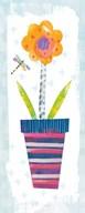 Collage Flower I Border  Fine Art Print