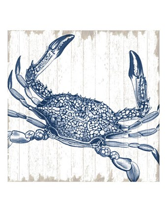 Framed Seaside Crab Print