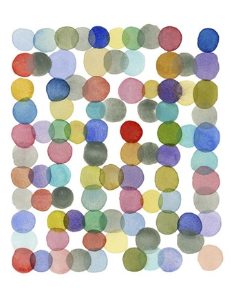 Framed Series Colored Dots No. II Print