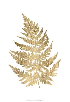 Framed Graphic Gold Fern IV Print