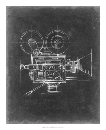 Framed Camera Blueprints II Print