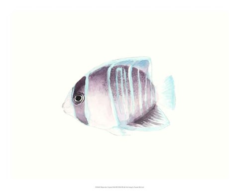 Framed Watercolor Tropical Fish III Print