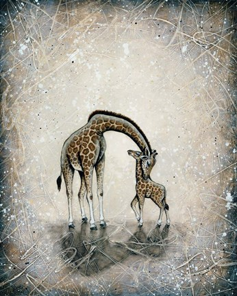 Framed My Love for You - Giraffes Print
