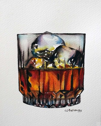 Framed Scotch on the Rocks Print