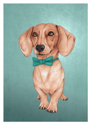 Framed Wiener Dog Print