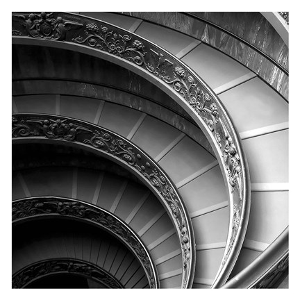 Framed Spiral Staircase No. 1 Print