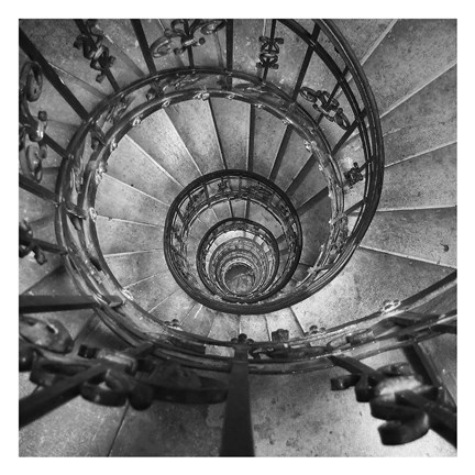 Framed Spiral Staircase No. 2 Print