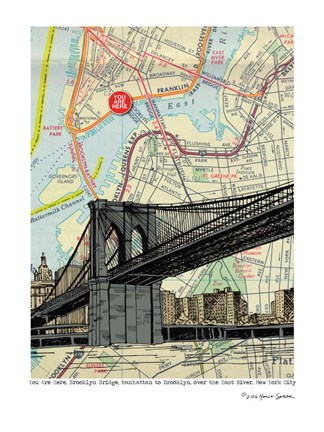 Framed Brooklyn Bridge - NYC Print