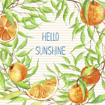 Framed Hello Sunshine Print
