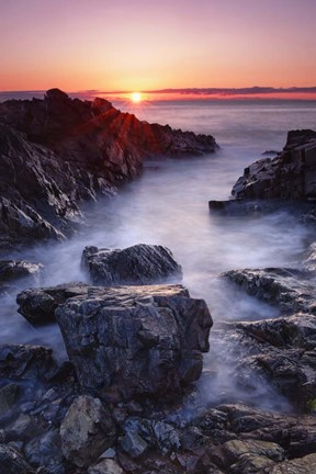 Framed Sunrise at Marginal Way Print